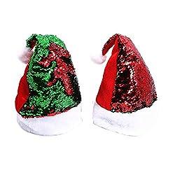 Reversible Sequin Santa Hats