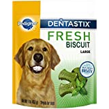 Pedigree DENTASTIX Fresh Biscuit Large Treats for Dogs, 1 pound (Pack of 4), Reduces Plaque and Tartar Buildup