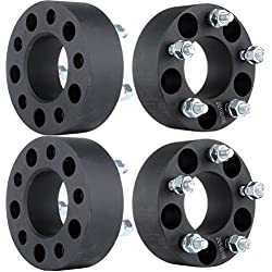 "ECCPP Wheel Spacer 5x4.5, Wheel Spacers 5 Lug 4X 1.5 5x4.5 to 5 x 4.5 for Jeep Wrangler Cherokee Liberty Ford Ranger Crown Victoria Mustang Edge Explorer Lincoln Town Car&More 1/2"" x 20 Studs"