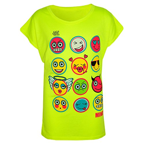 10 Edad 11 13 Moda Ni 4 Ne Moda Emoji os 7 Ni os Estampado Emociones Moderna 12 Tops 8 Camiseta A A2z 9 Chicas os vHf61nU6x