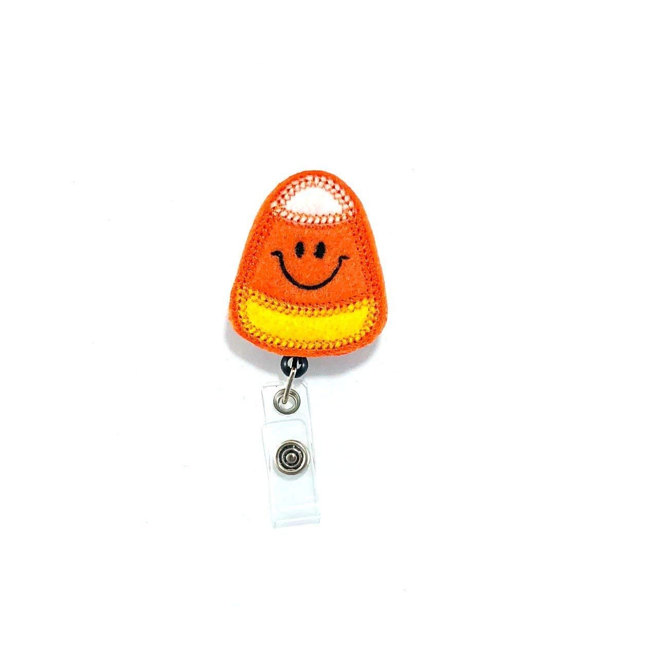 Candy Corn Retractable Badge Reel