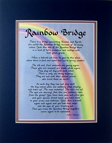 Rainbow Bridge Dog Memorial Wall Decor Poem Pet Saying Bereavement Keepsake Gift