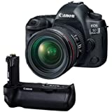 Canon EOS 5D Mark IV with EF 24-70mm f/4L IS USM Lens - With Canon BG-E20 Battery Grip