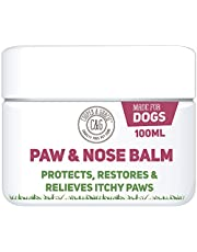 Dog Paw Nose Balm 100ml - Cracked Itchy Paws Warm Weather Heat, Pollen and Insect Skin Protection - Cruelty Free - Best Grooming For Dogs
