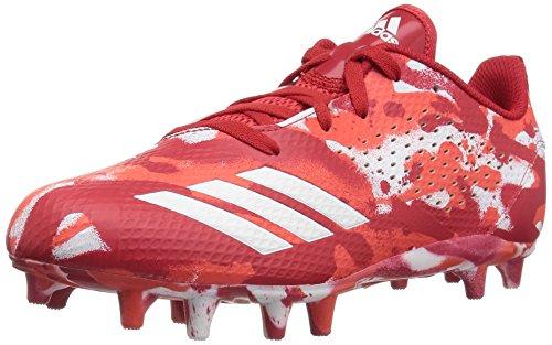adidas Unisex Adizero 5-Star 7.0 Football Shoe, White/hi-res red/Scarlet, 5.5 M US Big Kid ()