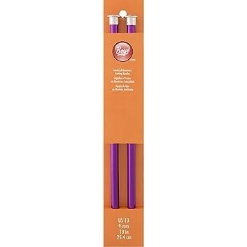 Amazon.com: Boye 10-Inch Aluminum Single Point Knitting Needles ...