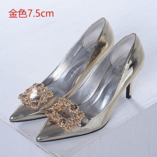 agua Zapatos zapatos de 7 novia Tacones 35 de de con tacones cristal Zapatos noche perforación boda oro mujer Botas HUAIHAIZ 5cm de de lady de 7fCtUqqw