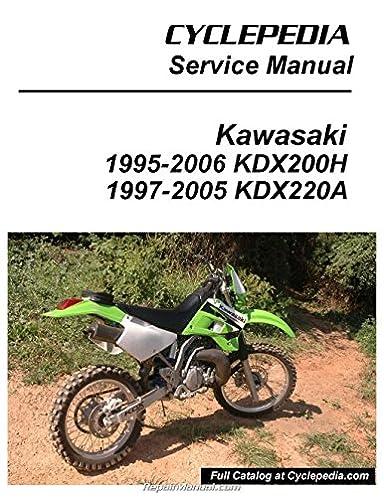 cpp 102 p kawasaki kdx200h kdx220a cyclepedia printed motorcycle rh amazon com