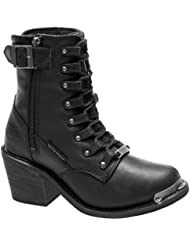 Harley-Davidson Womens Erica 6-Inch Waterproof Black Motorcycle Boots D87125