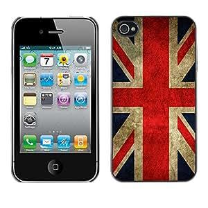MOBMART Carcasa Funda Case Cover Armor Shell PARA Apple iPhone 4 / 4S - Flag Of The United Kingdom