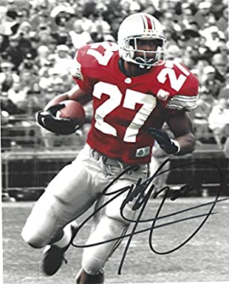 Eddie George Autographed Ohio State Buckeyes 8x10 Photograph-Certified Authentic