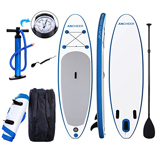 Ancheer Sup Board  Stand Up Paddle Board 10  Inflatable Paddle Board  6 Thick Sup Board   Isup Board Package With Adjustable Paddle  Leash Pump And Backpack