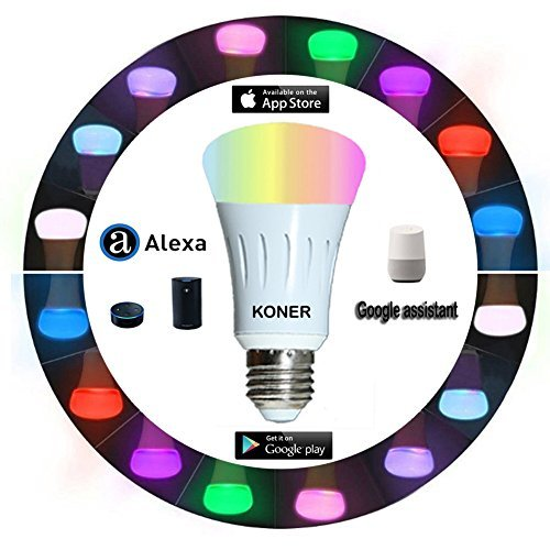 Single Tunable (Smart Led Bulb, Work with Amazon Alexa and Google Assistant, Phone Control, Color Tunable 7W A19 Wi-Fi Smart Bulb, 60W Equivalent)