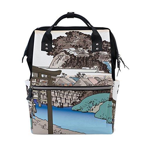 Ukiyoe Ukiyo-E Print Japanese Art Mommy Bags Mother bag Trav