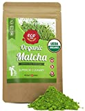 Matcha Green Tea Powder - Superior Culinary - USDA Organic From Japan -Natural Energy & Focus Booster Packed With Antioxidants. Matcha Tea For Mixing In Lattes, Smoothies & Baking. By eco heed 3.5oz