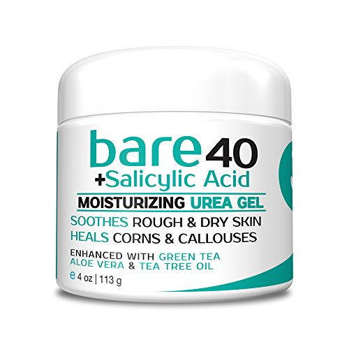 Bare Urea 40% Percent Plus Salicylic Acid Cream for Hands, Feet, Elbows and Knees – Corn & Callus Remover – Skin Exfoliator & Moisturizer – Repairs Thick, Callused Dead & Dry Skin