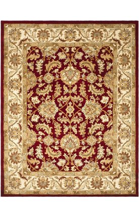 Traditional Rug – Heritage Wool Pile -Red/Ivory Red/Ivory/Traditional/2'3″ x 8'/Runner For Sale