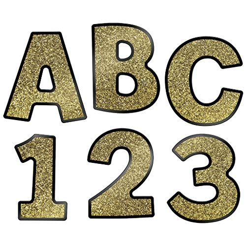 (Carson Dellosa Sparkle and Shine Gold Glitter Combo Pack EZ Letters)