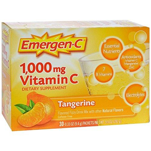 Emergen-C Vitamin C Tangerine Flavored Drink Mix 30 Packets, 0.33 oz