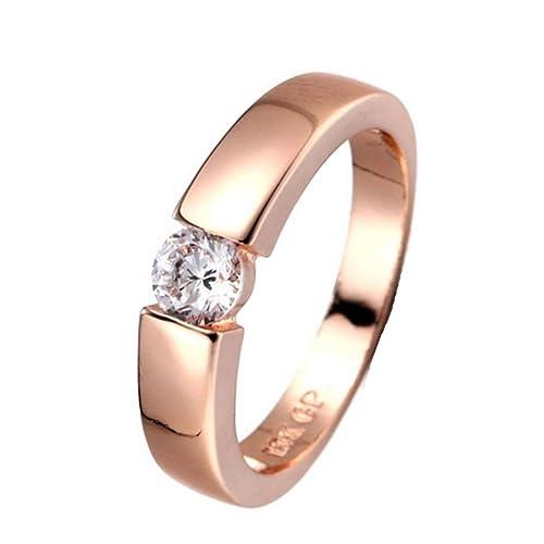 6e16c4493d00b Lethez Couple Rings, Women Men Diamond Ring Promise Wedding Engagement  Jewelry Simple Wild Rings