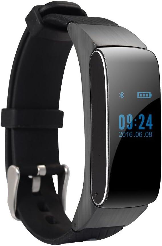 Smart Bluetooth pulsera auricular auricular Smartwatch impermeable ...
