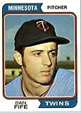 1974 Topps Baseball Card IN SCREWDOWN CASE #421 Dan Fife Mint