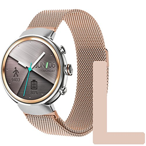 5b5204d37 ZENWATCH 3 Band,Oitom Premium Woven Milanse Loop Stainless - Import It All