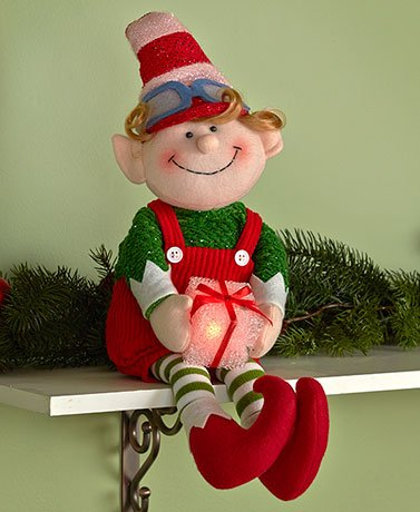 Outdoor Lighted Elves in US - 4
