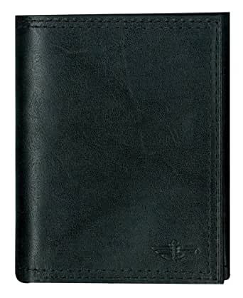 Dockers Men's Trifold Wallet,Black,One Size