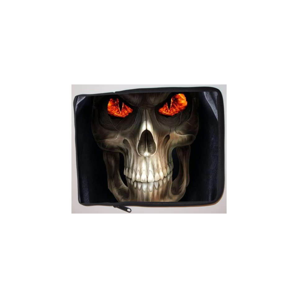 Fire Grim Reaper Design Laptop Sleeve   Note Book sleeve   Apple iPad   Apple iPad 2   Apple iPad 3   Android sleeve   can be used for for Fujitsu, Kindle, Samsung, Dell, Acer, ASUS Eee PC, Gateway, HP, Sony, Compaq, IBM, Mac, Sharp, Toshiba models   Unise