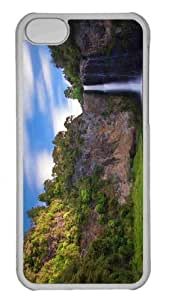 Customized iphone 5C PC Transparent Case - Falls 3 Personalized Cover