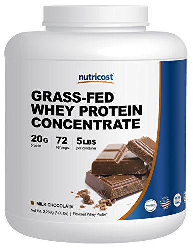 Nutricost Grass-Fed Whey Protein Concentrate (Chocolate) 5LBS – Undenatured, Non-GMO, Gluten Free, Natural Flavors For Sale
