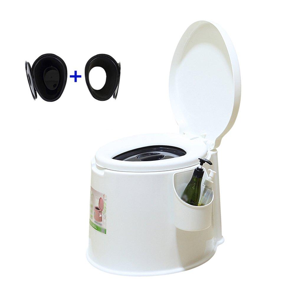 トイレチェアトイレ旅行キャンプハイキングピクニックアウトドア (色 : 白) B07CWS1DDG 白 白
