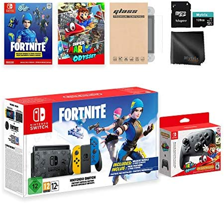 Mytrix Switch FN Wildcat NS Console Odyssey Pro Controller Combo: Switch Limited 32GB Console, Super Mario Odyssey Full Game, Switch Wireless Pro Controller Switch Accessories Kit