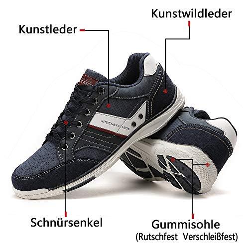 Trainers A9099 blau Sneaker Herren Berufsschuhe 46 Boxing 41 Größe Walkingschuhe Ax Wanderschuhe Freizeitschuhe wqx0TACa