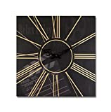Pack of 4 Black & Gold Movie Clapperboard Decorative Clocks 15.5''