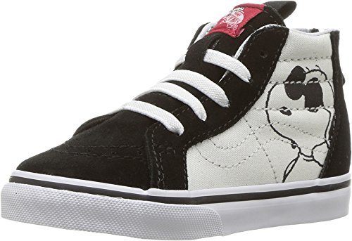 Vans Peanuts Toddlers Joe Cool/Black SK8-Hi ZIp Trainers-UK 2 Infant (Vans Sk8 Hi Zip)