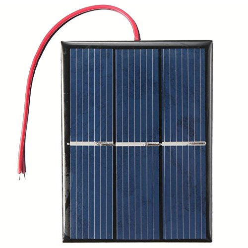TOOGOO 0.65W 1.5V Panel Solar Negro