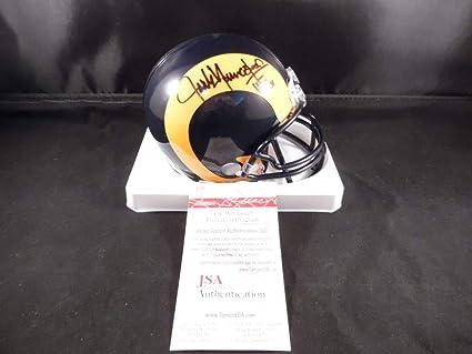 f73083a3e Jack Youngblood Autographed Signed Los Angeles Rams Mini Helmet Memorabilia  - JSA Authentic