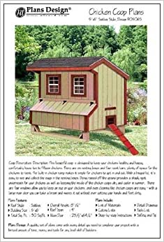 5'x6' Chicken Coop / Hen House Plans, Saltbox Roof Style ...