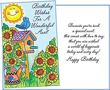 Amazon Prime Greetings Birthday Wishes For A Wonderful Aunt Happy Card Office Products