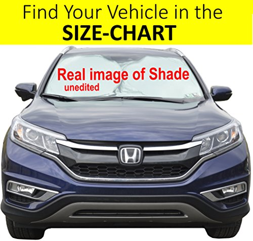 Cool Sun Xl Reflector - Car Front Window Sunshade Size-Chart for Cars Suv Trucks Minivans Reflector Keeps Your Vehicle Cool Heat Shield XL