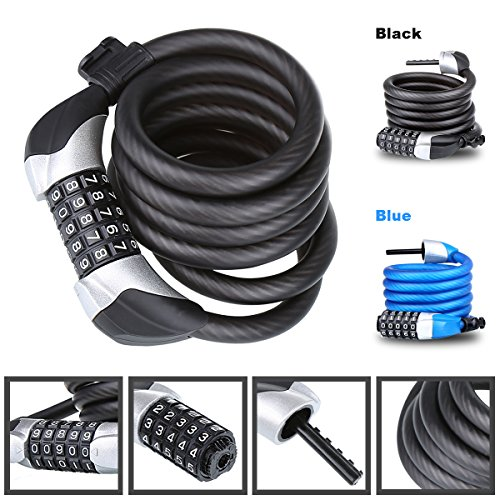 Heavy-Duty-Bike-Lock-Chain-Lock-with-5-Digit-Resettable-Number-Combination-Cable-Lock-For-Bicycle-Scooter-Grills-Other-Items-That-Need-To-Be-Secured-Blusmart