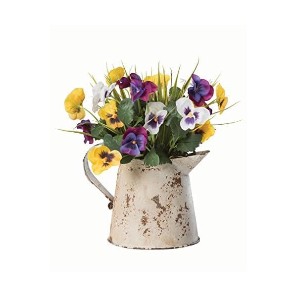 Pansy Pitcher Silk Flower Arrangement