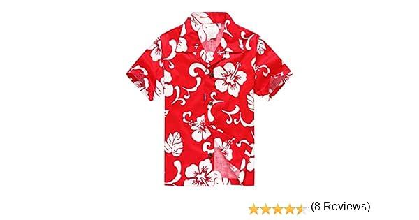 Chico Hawaiian Aloha Luau Camisa y Pantalones Cortos Cabana de 2 Piezas en Rojo Hibiscus: Amazon.es: Ropa y accesorios