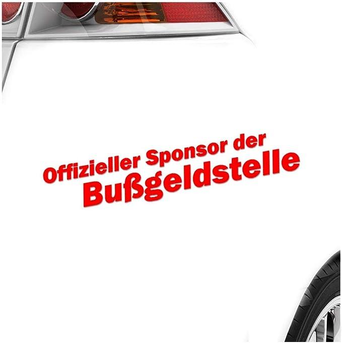 Sponsor Der Bußgeldstelle 20 X 4 Cm In 15 Farben Neon Chrom Sticker Aufkleber Auto