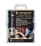 chameleon color tones - Chameleon Art Products Chameleon Color Tops, Skin Tones 5-Pen Set