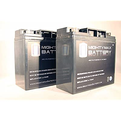 Mighty Max Battery ML18-12 - 12V 18AH Go-Go Travel Mobility Elite Traveller Plus SC53HD, SC54HD Battery - 2 Pack Brand Product: Health & Personal Care
