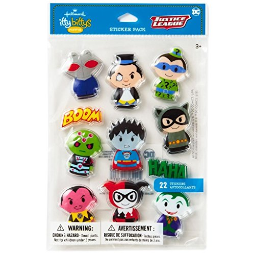 Hallmark itty bittys DC Comics Villains Puffy Stickers, Pack of 22