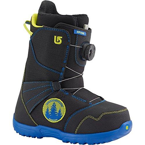 Burton Jungen Snowboard Boots Zipline Boa, Black/Blue, 7, 13191101011